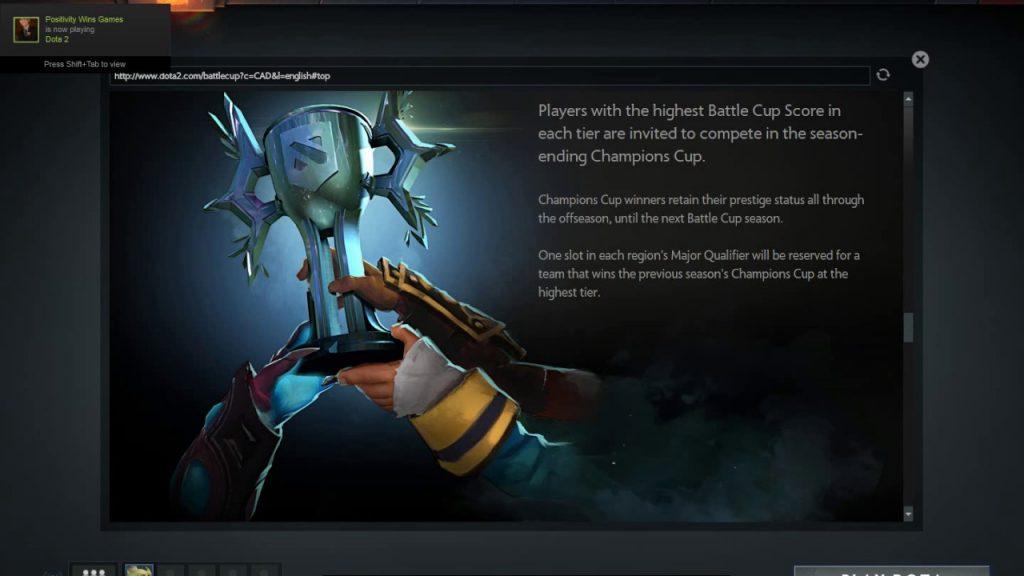 dota 2 battle cup wins
